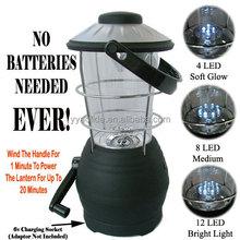 Happy Camper 12 LED Rechargeable Crank Lantern hand crank lantern