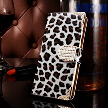 Manufacturer wholesale cell phone case , sexy leopard style new arrival leather case for iphone6 , PU 5.5 inch wallet phone case