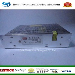 better price for S-50-24V switching power supply AC220V-DC24V/2A 50W new and original hot