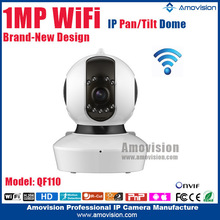 QF110 Mini WiFi Dome house security Two way audio Pan tilt with IR hidden night vision antenna