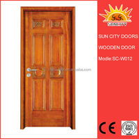 SC-W012 Laminated solid wood indian main door design