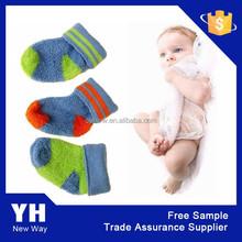 2015 Cheap organic cotton new born baby ski ankle socks