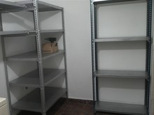 Slotted Angle Shelving in Stacking Racks & Shelves