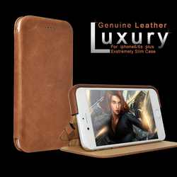 Spain Market Genuine Litchi Grain Leather White Man Hanging Mobile Phone Cases For Iphone 6S