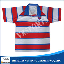 Custom sublimation stylish rugby polo shirt