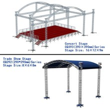 hot sale and cheap 100-400sqm aluminum spigot or bolt truss for concert stage for trade show with global truss