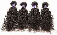Natural black color unprocessed human hair weft jerry curl Cheap Virgin High Quality Hair
