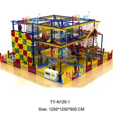 2016 popular attractive Kid's high rope course Indoor Adventure Playground Equipment