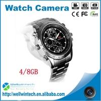 SC Metal Housing Mini Hidden Hand Camera Watch Wearable Camcorder
