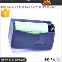 Universal 18650/26650 1 Slot 4.22-4.25V high quality 26650 charger