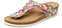 factory low price 2015 newest fashion cork flip flop sandal