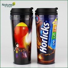 16oz 450ml Double Wall Plastic Starbucks Tumbler with Paper Insert