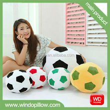 Football polystyrene beads filled pillow,micro bead squishy pillow