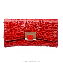 Ladies Embossing Genuine Leather Chain Cross Body Bag India Clutch Bag