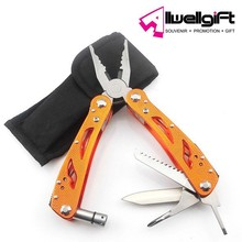 Mini Multitool Pliers with LED Flashlight and 5 Stainless Steel Foldout Functions