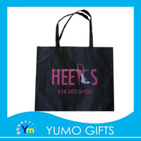 2015 cheapest high heel shoe bag, black laminated bag, black non woven bag