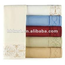 Embroidered Wrinkle Free Queen Sheet Set