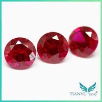 Free Sample Round Synthetic Corundum Color #8 Star Cut Precious Stones