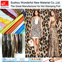 Multicolour Leopard design Hot Stamping Foil for textile tshirt