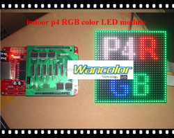 indoor full color video p4 led board p4 full color LED panel 128*128mm 32*32 dots for DIY P4 indoor LED screen