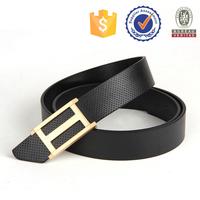 Newest Design Hot Selling Genuine Leather Belt Plate Buckle Belt Men
