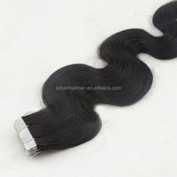 New Arrival high quality body wave texture virgin brazilian hair 40pieces/pack double wavy hair tape hair extensions