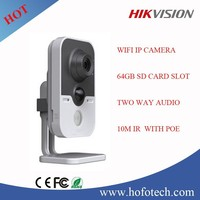 Hikvision wifi camera, 1.3 Megapixel Alarm Pro Cube IP Camera with IR & POE