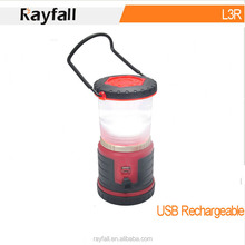 2015 New products USB charging waterproof rechargeable camping led lantern
