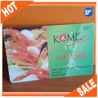 Full color priting 125khz rfid gift card manufacturer