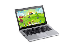 3g sim slot 13.3 inch display pannel laptops, 10 touch point display pannel;2gb ram, 320gb rom,