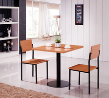 E0732 sample dining table and 2 chair/ modern wooden dining table/dining room table wood