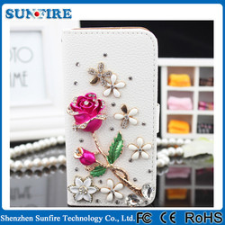Bling wallet case for iphone 5, crystal bling phone case for iPhone6