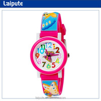 cutomised cute floral cartoon novelty kid watch with butterfly japan movt uhren