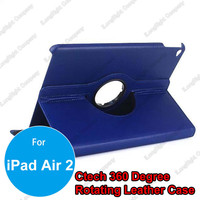 360 Degrees Rotating Tablet Leather Case for iPad Air 2,PU Leather Case Cover With Stand For iPad