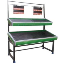 2 level vegetable and fruit display shelves