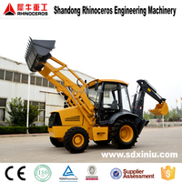 chinese manufacturer hot 4wd mini agricultural/garden farm tractor with front loader and backhoe price for sale new cheap