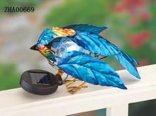 canton fair 2015 Cute solar metal garden bird decoration