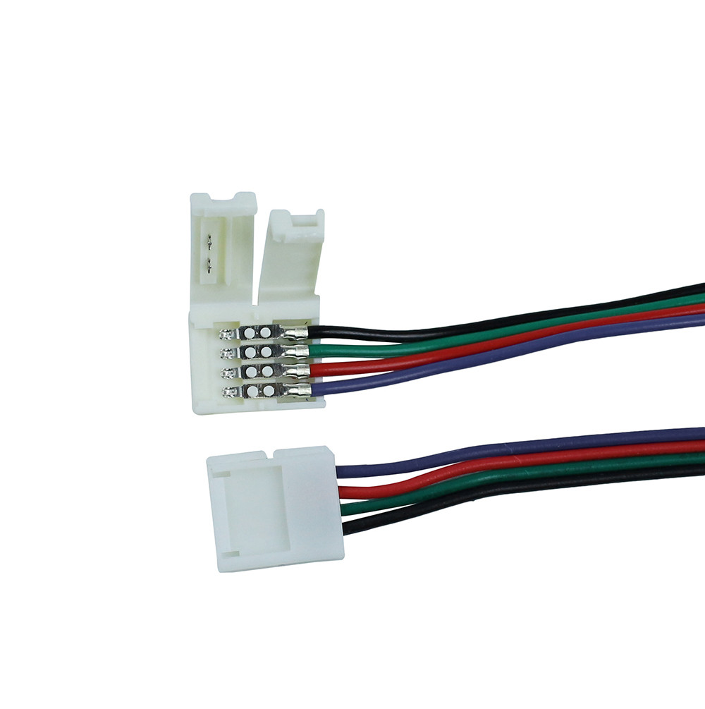 10mm Width 4 Pin Wire Connectors For Smd 5050 Led Strip Light Buy Wiring 8mm 3528