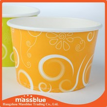 disposable custom logo paper cup ice cream