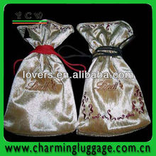 2014 new arrival fashion large satin drawstring bags