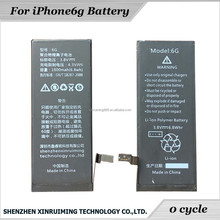 High quality Battery For iPhone6 6G exceed 1000times mobile phone battery 1430mah Lithium batteries