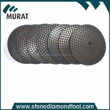 Black Resin Cooper Bond Dry or Wet Diamond Polishing Pads With Velcro Back