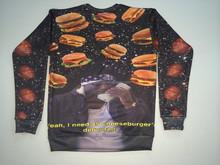 Wholesale 3d printing custom jersey sweatshirts hoodies