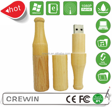 hot selling wooden usb flash drive beer bottle and jar shape usb