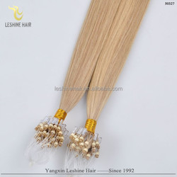 23 Years Experience Top Quality Full Cuticle Remy Human Hair micro ring hair extension curly