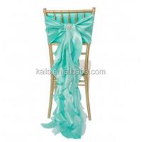 Curly Willow Taffeta Chair Sash Tiffany Blue/organza sash/wedding chair cover table cloth napkins