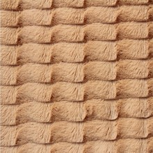 stripe brushed soft faux plush coat fabric