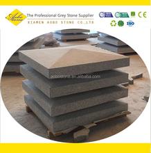 Machine cut G603 pyramid pier granite pillar caps