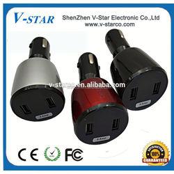12V USB plug, keychain car charger, 5V 1A output, big area to print logos