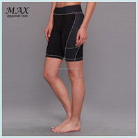 Women padded tight piping bike shorts&quick dry slim fit sports shorts